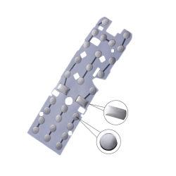 [فر سمبل] مستديرة معدن قبة صفح طبقة وحيدة يوقد محبوب شفّافة مع مادة لأنّ تلفزيون [رموت كنترول] سفر [0.16مّ]