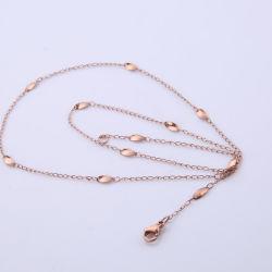 卸し売り方法ステンレス鋼のねじれはネックレスの足首のブレスレットデザインのためのチェーン宝石類を含んでいる