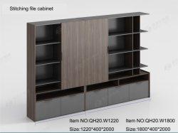 Muebles de madera para oficina Archivador con puertas de vidrio