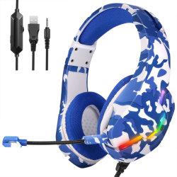 Новая армия моды синий светодиодный индикатор проводная гарнитура для PS4 игра гарнитура PC Win7/8/10 гарнитуры