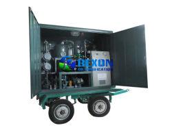 Huile isolante du système de filtration sous vide avec quatre roues de voiture remorque pour les projets sur site