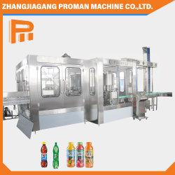Soplado de botellas de plástico PET automático de llenado de bebidas de la línea de producción de jugo de la botella de líquido de lavado suave bebida carbonatada tapado de agua zumo envasado Máquina de Llenado