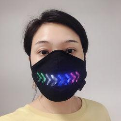 Linli APP controlado material personalizado Message Display LED acenda Máscara, Piscar Máscara mágico para os eventos e festas