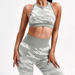 高品質の流行の新しいActivewearの有機性工場卸売のセクシーな適性のタイの染料のヨガの女性のタイツのスポーツの摩耗の女性のための一定のカムフラージュの衣服