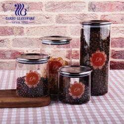 Jarros com tampa de alimentar o recipiente Mason Definir manusear óleo Galheta vinagre contentores Candy Spice Claro Condimento vaso de vidro borossilicato de alta jarra de Armazenamento (GB570040430)
