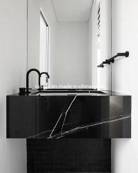 Nero Margiua mármore negro vaidade tops para banheiro