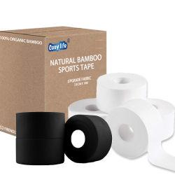 친환경 강한 접착제 플라스틱으로 생분해되지 않음 100% Bamboo Sock 테이프 스포츠 붕대