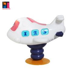 Stuk speelgoed van het Vliegtuig van het Stuk speelgoed van het Vliegtuig van het Stuk speelgoed van de baby het Muzikale Elektrische Plastic voor Jonge geitjes