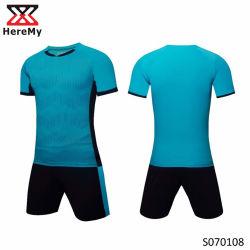 Kundenspezifische Uniform der Sublimation-Fußball-Hemd-Firmenzeichen-Entwurfs-Fußball-Installationssatz-/Fußball