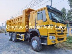 سعر جيد شاحنة مستعملة إلى أفريقيا سينوروك HOWO 6*4 و شاحنة جرار سعة 8*4 371HP-375HP عجلات 10 عجلات تفريغ مستعملة شاحنة