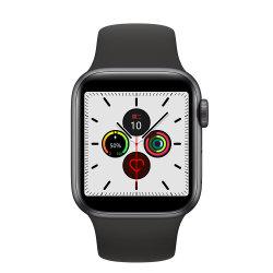 Vigilância inteligente com 44mm Bluetooth padrão ligando a freqüência cardíaca Monitor ECG Siri Connection Voice Control Rastreador de Fitness
