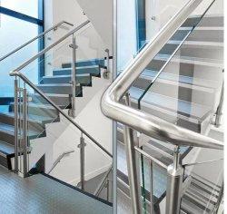 الأمن الزجاج البلوسترات لحمام السباحة الزجاج تلمع لون الفولاذ السلالم على السلالم، قضبان اليد، للسلالم للسلالم الخارجية