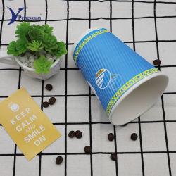 De beschikbare Biologisch afbreekbare Kop van het Document van de Muur van de Rimpeling voor de Verpakking van de Koffie en van de Thee