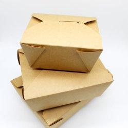 Fast-food à emporter à l'emballage du papier kraft boîte pour hamburger/salade