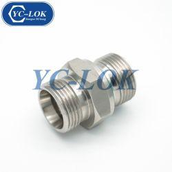 스트레이트 수 스터드 커넥터 수 미터 나사산-O-링 튜브 이음쇠