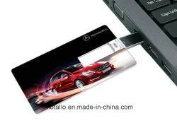 بطاقة الائتمان محرك أقراص USB محمول مع شعار مجاني على كلا الجانبين طباعة كاملة بالألوان