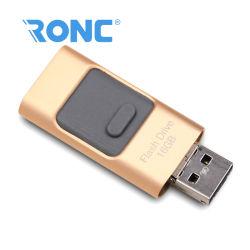 USB USB مخصص بـ 3 في 1 و32 جيجابايت USB متعدد الوظائف محرك أقراص محمول