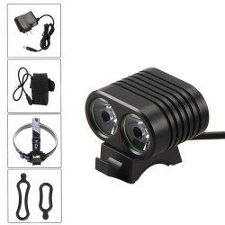 Poderoso 20W Aluguer de luz frontal 8800mAh Pack 2 T6 Luzes de LED de XML para Farol de Bicicletas