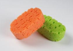 목욕 거품 갯솜이 바디 청소 폴리우레탄에 의하여 농담을 한다
