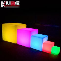 أثاث LED مكعب مقاوم للمياه PE Plasti&simg؛ مكعب LED خفيف