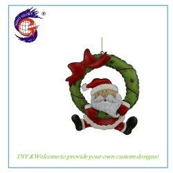 Peinture colorée cadeau de Noël de conception pendaison Accueil Santa décoration