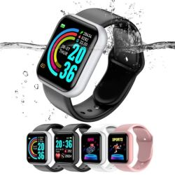 Y68 Wholesale preiswerten elektronischen Handy-Sport Bluetooth Smartwatch Silikon CER RoHS Form-Frauen-Dame-Armband-Digital-LED