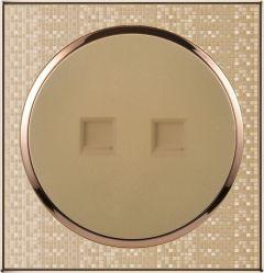Nouveau panneau de bonne qualité assuré à la télévision par satellite + prise tel commutateurs électriques des interrupteurs électriques