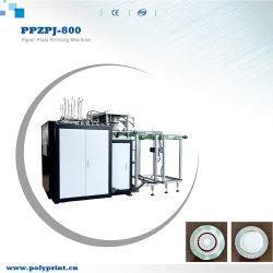 Plato plato de papel desechables automático de apilamiento de máquina de hacer el recuento de la formación