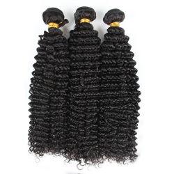 Y el cabello humano Beleachable Dyeable tejer la trama Rizo rizado Extensiones de Cabello