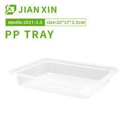 Het beschikbare Duidelijke Plastic Dienblad van het Voedsel van pp