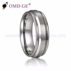 Deux couches bon marché de gros anneaux de tungstène
