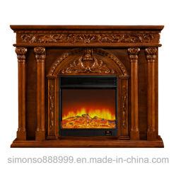 Mobiliário de madeira lareira elétrica inteligente Mantel de madeira