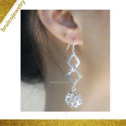 Commerce de gros Fashion or 14K le rhodium mariage Cristal de la conception de bijoux en argent élégant Earring