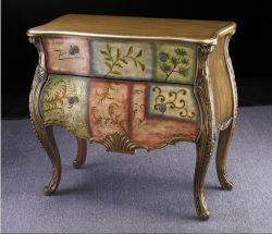 País de la pintura antigua sala de Antigüedades de tallado de espejo armario tallado en oro Flor dos armario Armario del lado de la cuchara Salón porche muebles armario