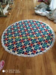 OEMはデザインプリント綿のMicrofiber Pareo円形タオルの工場をカスタマイズした