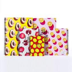 De goedkope Douane van het Notitieboekje A4/A5/A6 van het Patroon van het Fruit van het Dagboek van de Maaltijd Spiraalvormige voor Verkoop