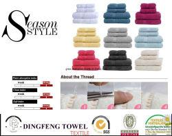 Set di asciugamani tinti 100% cotone con bordo satinato