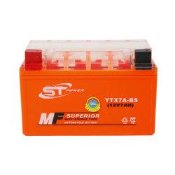 Batteria ricaricabile del motociclo del gel di marca Ytx7a-BS 12V 7ah di potere di S&T
