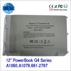 """12"""" série Powerbook G4 Batterie 6 cellules pour Apple de 10,8V 5200 mAh, UN1022, UN1060, UN1079"""