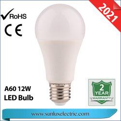 LED 전구 E27 제조 DOB A60 전구 라이트 12W 9W 6500K 및 CE 인증 ISO9001 인증
