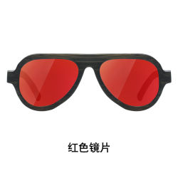 Vendita all'ingrosso Moda promozione personalizzata Logo Sport stile UV400 polarizzato Bamboo Occhiali da sole in regalo