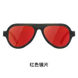 Vetri di Sun di bambù polarizzati UV400 su ordinazione di stile di sport di marchio di promozione all'ingrosso di modo