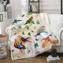 3D印刷の寝具の一定の羊毛毛布極楽鳥