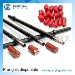 La queue de fixation Hex22*108mm tige de forage conique pour marteau perforateur pneumatique