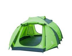 2021 簡易自動ポップアップ 4 人用ダブルレイヤー 屋外でのキャンプ用防水テント