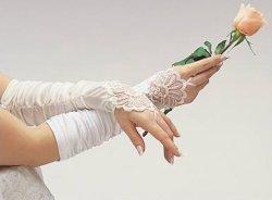 고전적인 Lady Satin Bridal 또는 Wedding Gloves (JYG-29304)