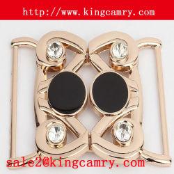 Combinación de dos piezas de metal hebilla del lanzamiento lateral de la hebilla de prendas de vestir