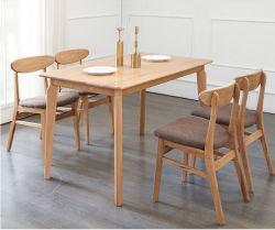 Mesa de jantar em madeira maciça nórdicos simples carvalho puro família pequena mesa de jantar-160*85*75