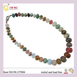 형식 Colorful Natural Stone Necklace, Fahion Necklace, Mother를 위한 Gift
