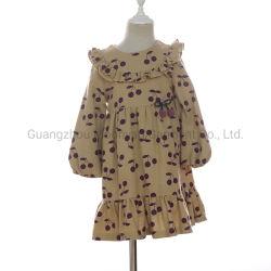 Наиболее востребованных Cute Вишня напечатано хлопка мини-платья для сладкой девочек одежду